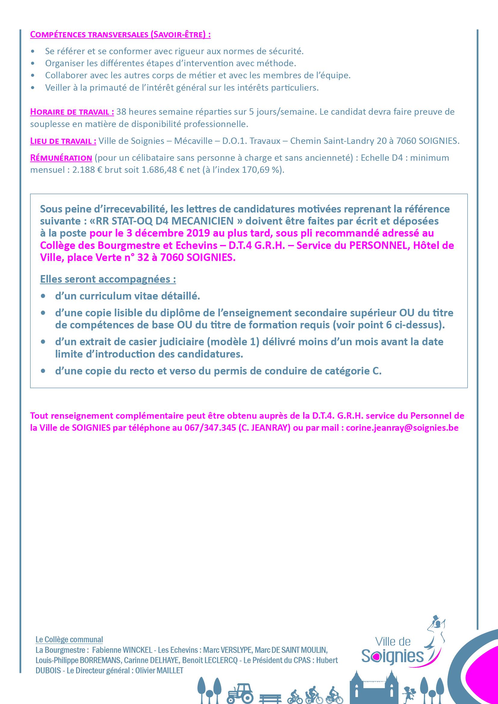 Constitution D Une Réserve De Recrutement Statutaire Au